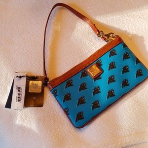 Dooney & Bourke NFL Panthers Wristlet NWT